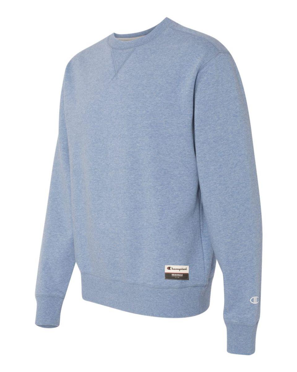 """AO500 Champion-Authentic Originals Sueded Fleece Crew /""""C/"""" logo Sweatshirt"""