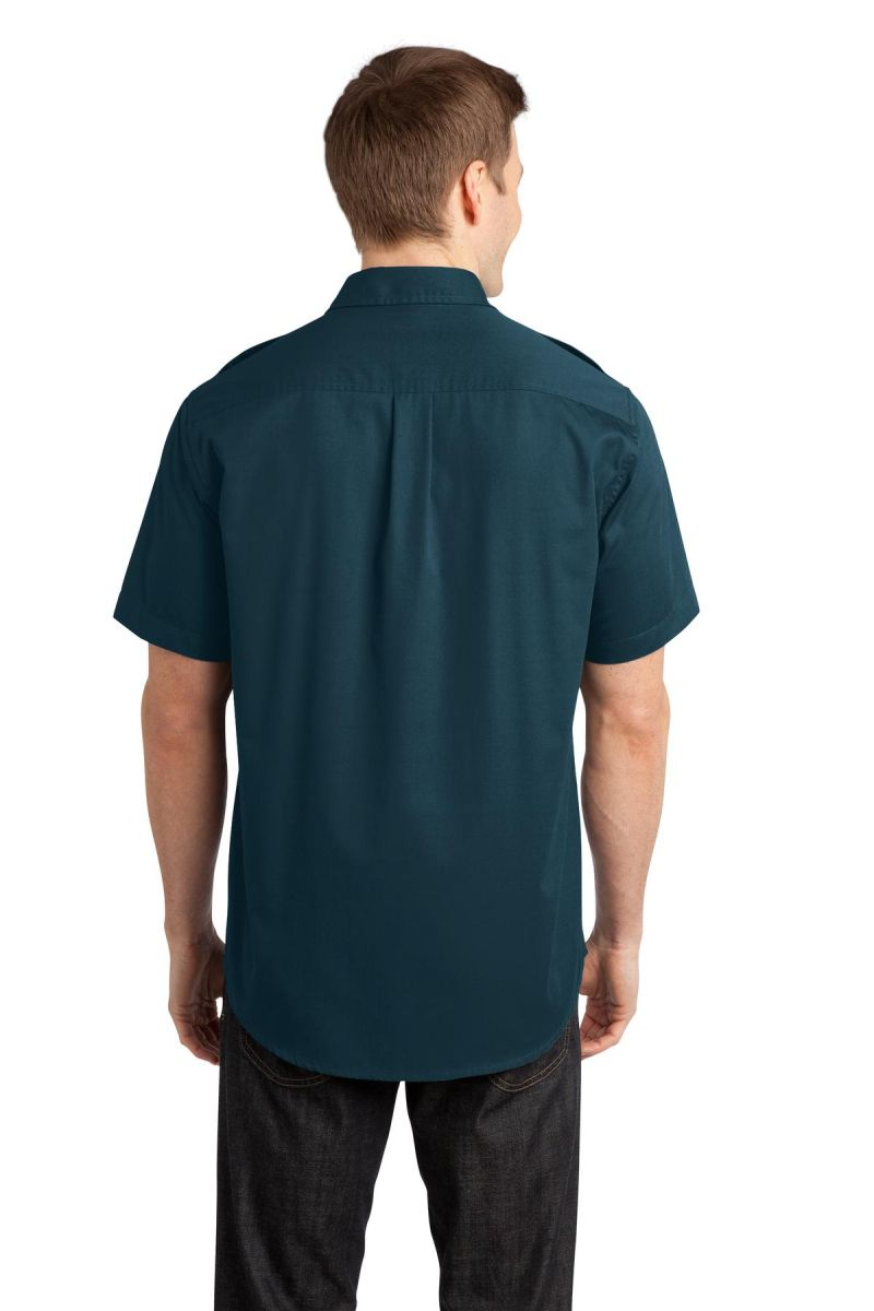 Port Authority Stain-Release Short Sleeve Twill Shirt S648