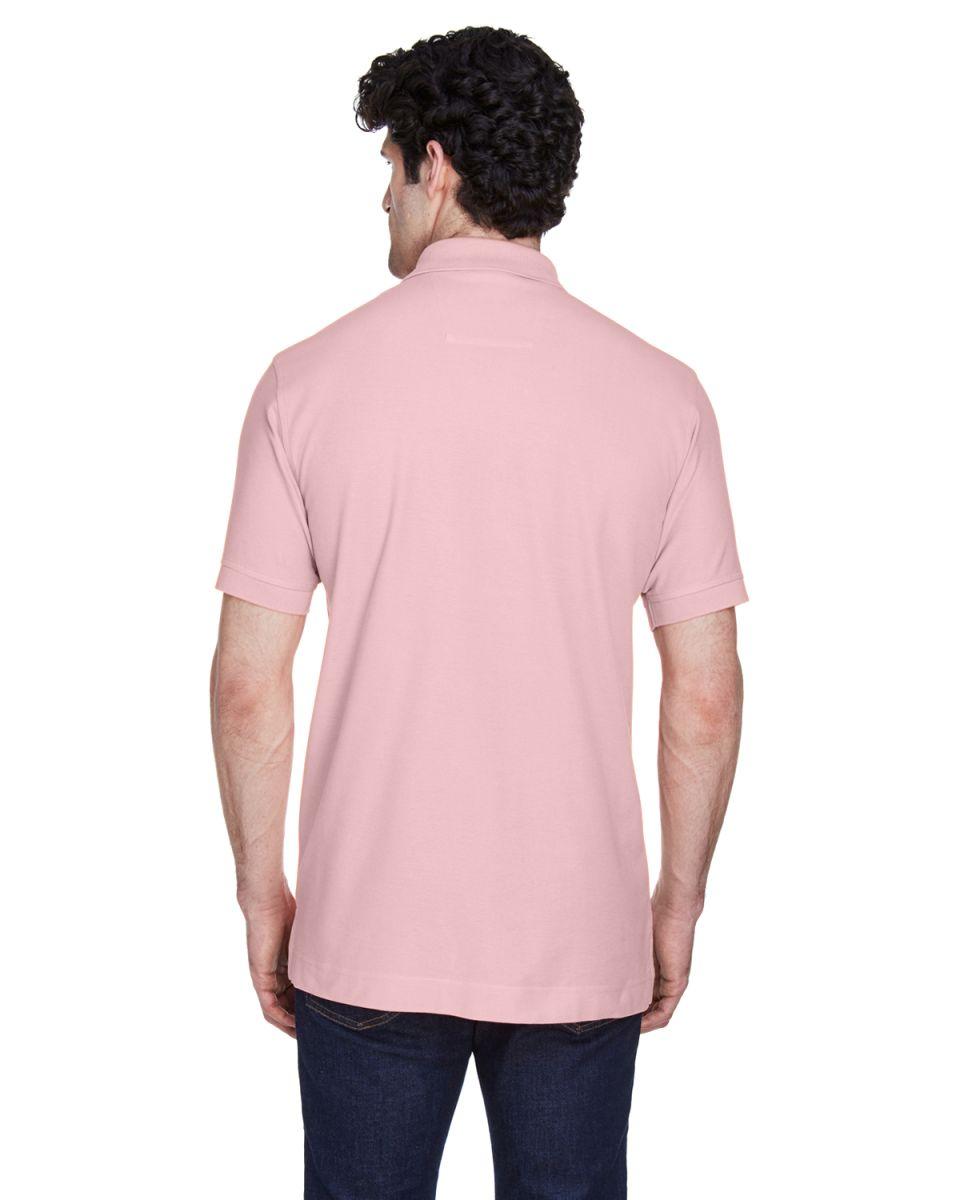 SLATE BLUE Devon /& Jones Mens Pima Pique Short-Sleeve Polo 6XL