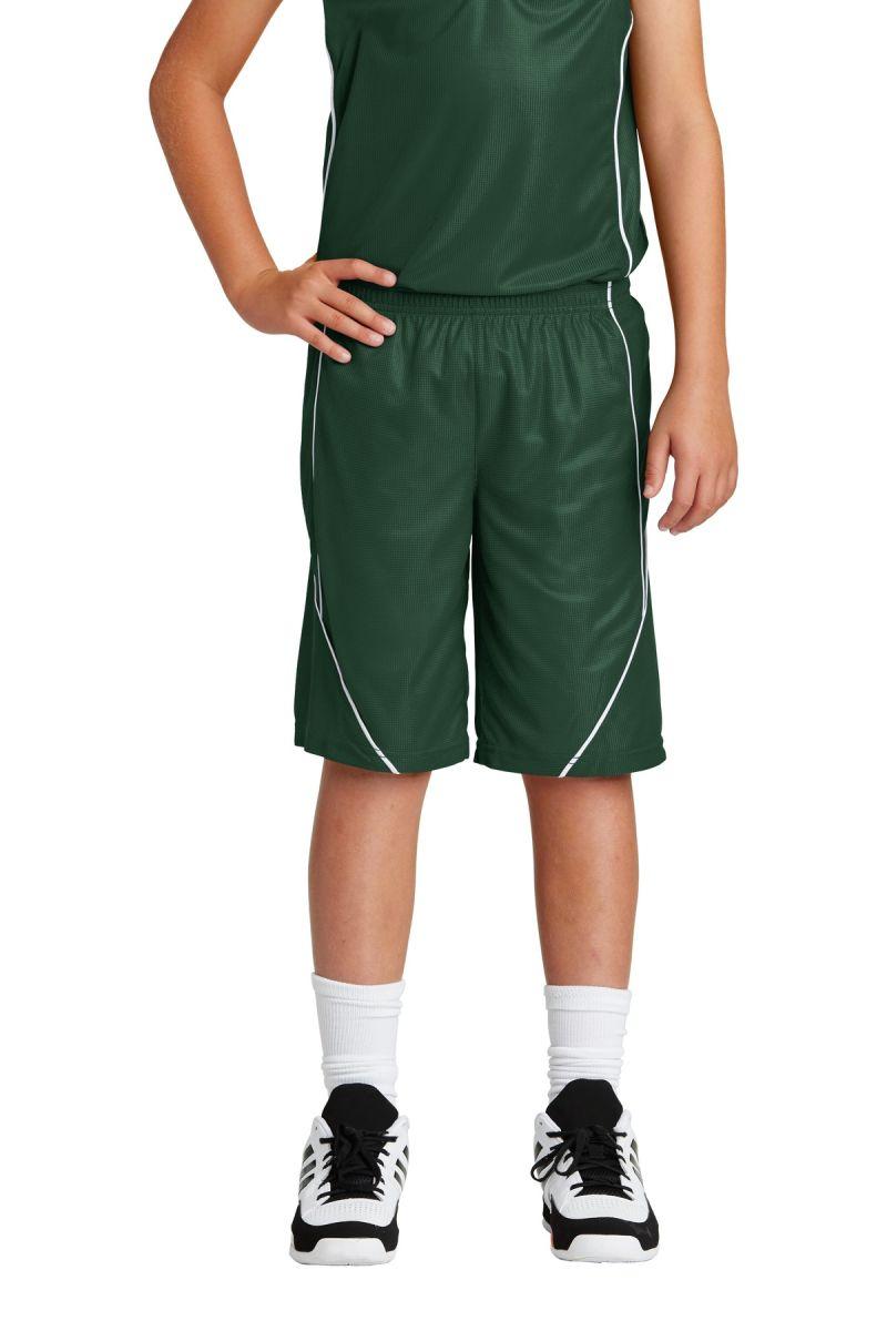 Sport-Tek Boys PosiCharge Mesh Reversible Spliced Short