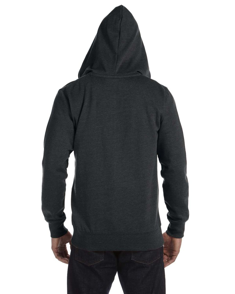Organic//Recycled Heathered Full-Zip Hood B A Product of econscious Mens 7 oz