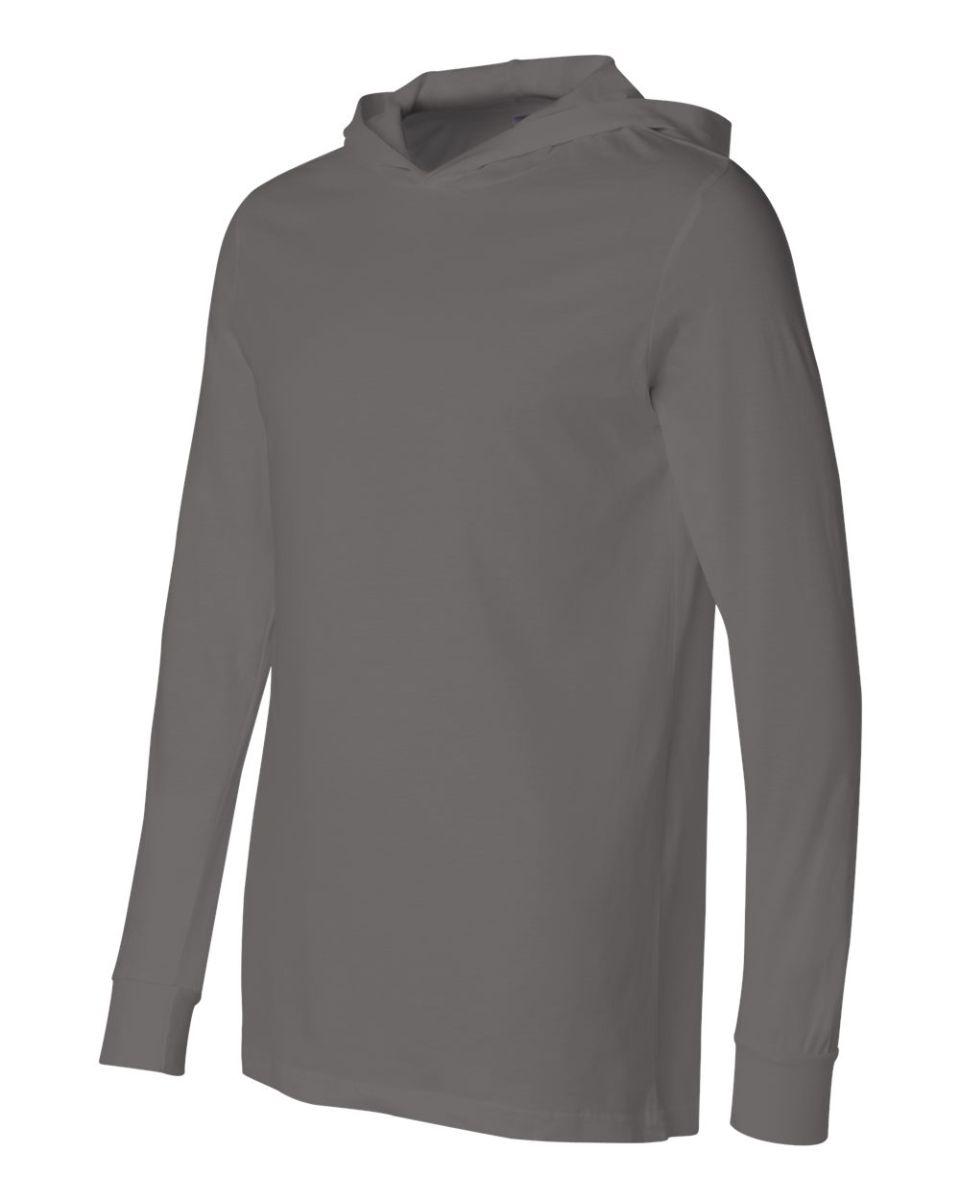 Unisex Long Sleeve Jersey Hooded Tee 3512 Canvas Bella