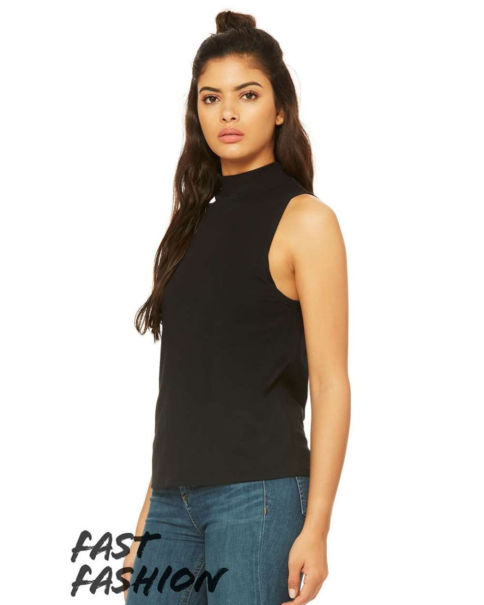 BELLA+CANVAS Women/'s Mock Neck Tank Style #6807 ~ All proceeds go to Charity