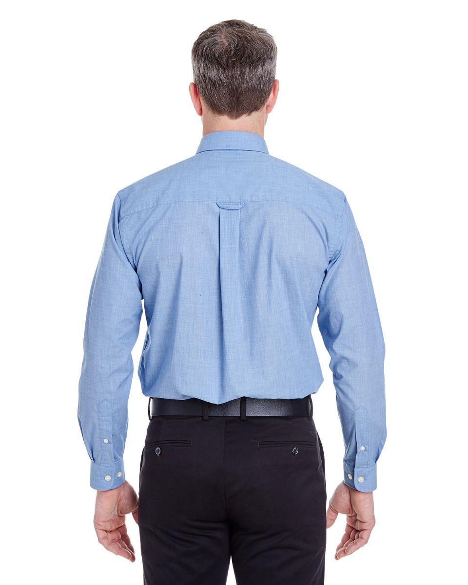 UltraClub Mens Comfort Wrinkle-Free End-on-End Dress Shirt