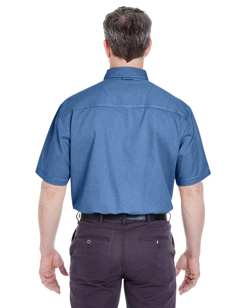 8965 UltraClub Short-Sleeve Cypress Denim with Pocket