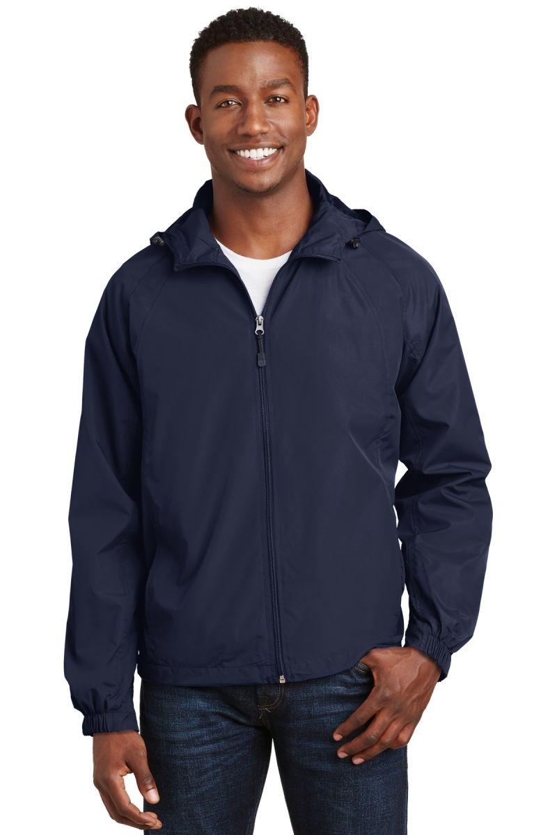 Sport-Tek Mens Tall Hooded Raglan Jacket