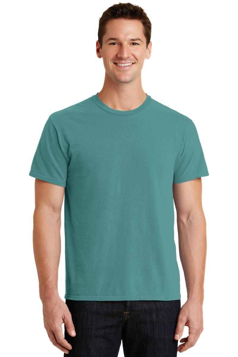 Port /& Company Mens Essential Pigment-Dyed Tee Neon Pink Small