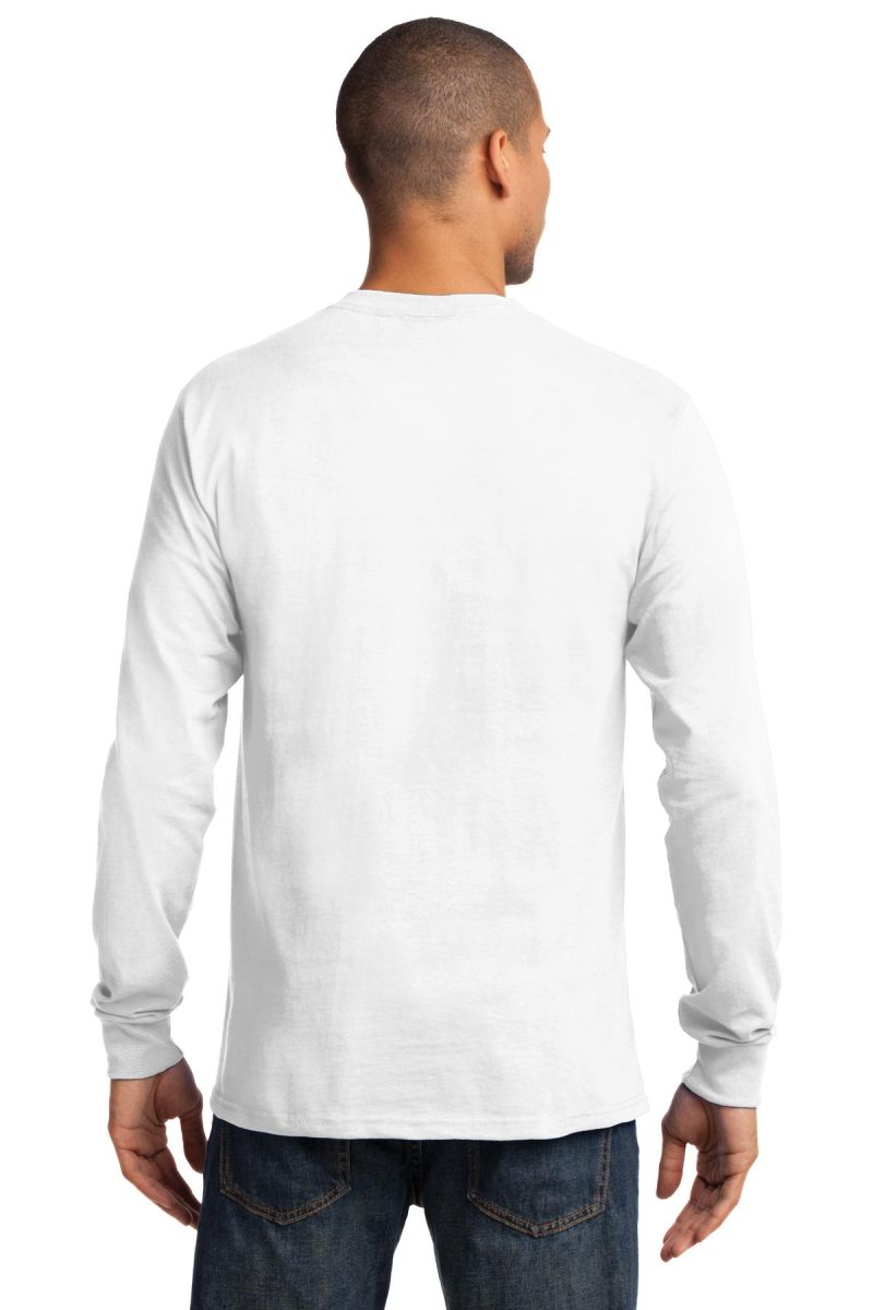 Port /& Company Long Sleeve Essential T-Shirt Dark Chocolate Brown S
