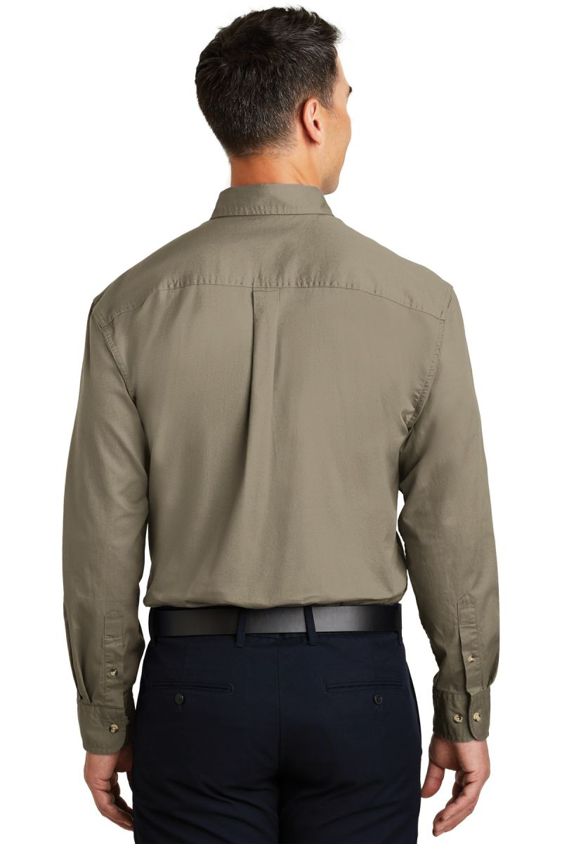 S600T Port Authority Long Sleeve Twill Shirt