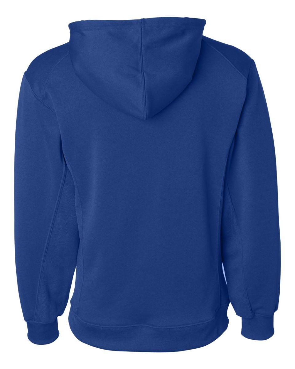 2454 Badger Sport Youth BT5 Performance Hooded Sweatshirt Silver Medium