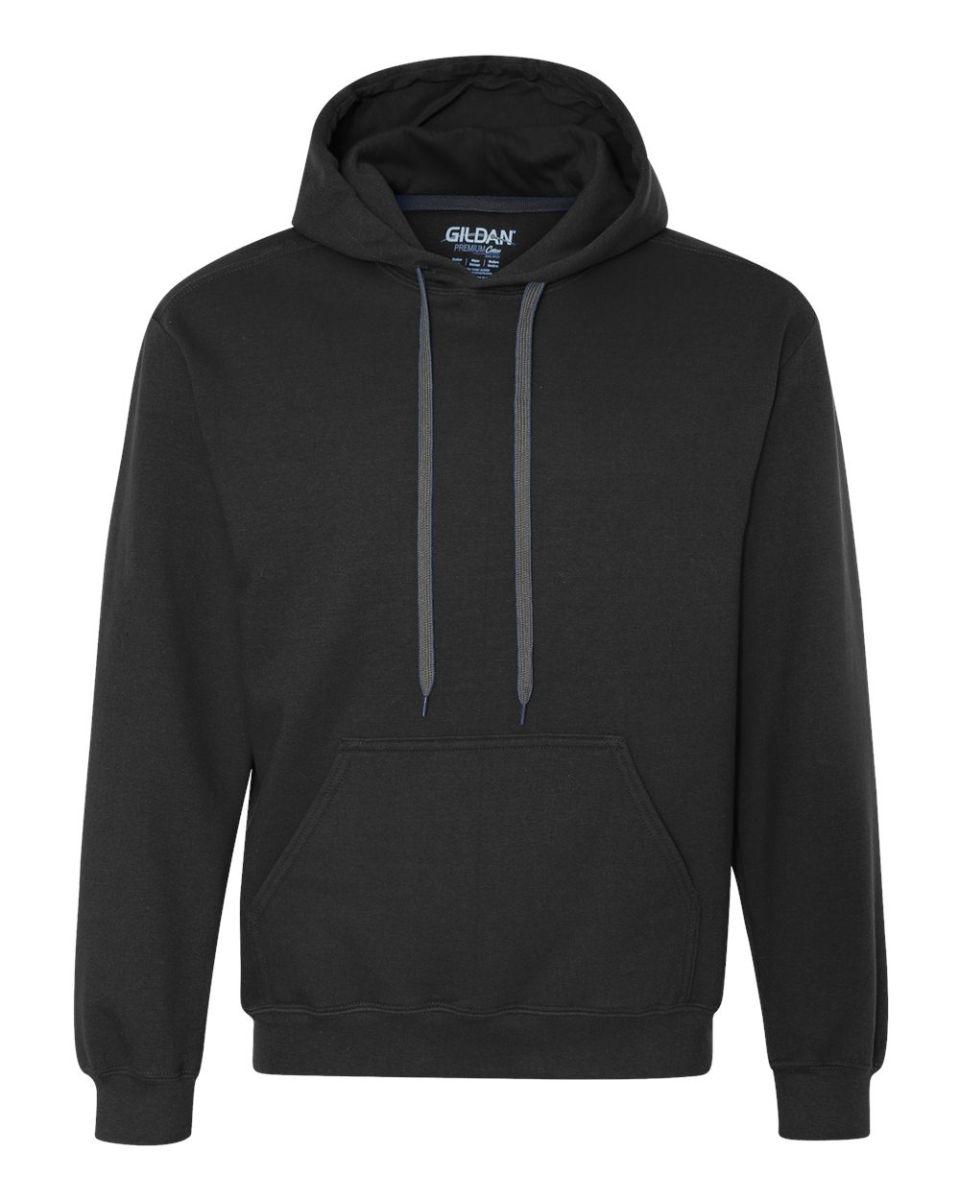 Fashion Gildan 92500 Adult Premium Cotton Hooded Sweatshirt