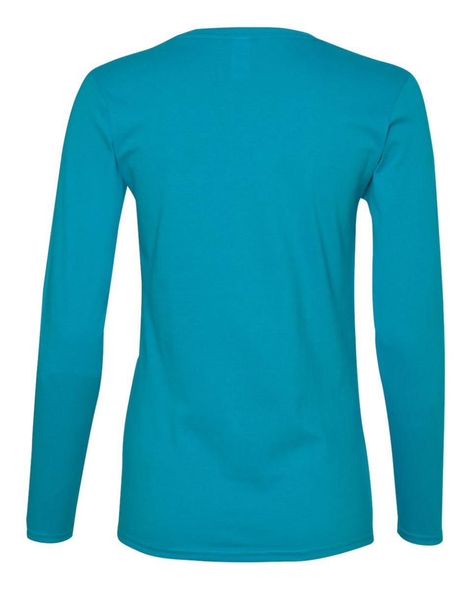 Anvil Womens Missy Fit Ringspun Long Sleeve T Shirt Ladies Tee S-2XL 884L