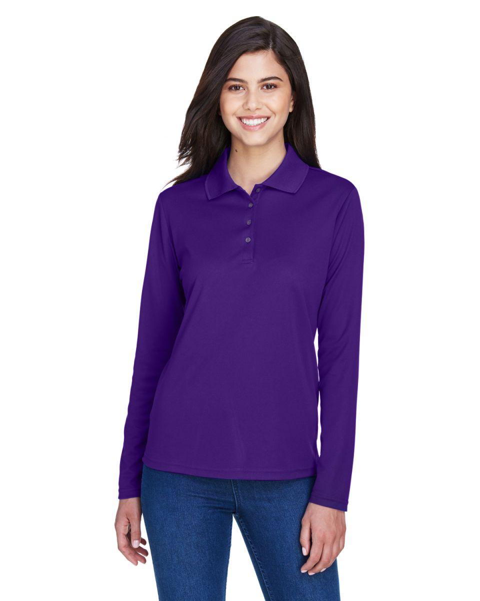 88192T Core 365 Pinnacle Mens Tall Performance Long Sleeve Pique Polo Shirt