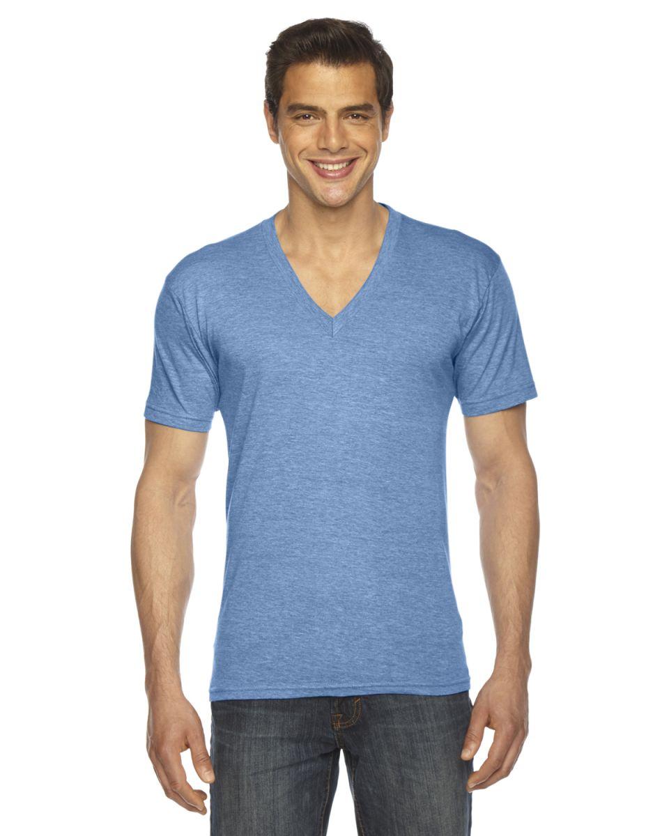 d9e8e8511 TR461W Unisex Triblend Short-Sleeve V-Neck Athletic Blue