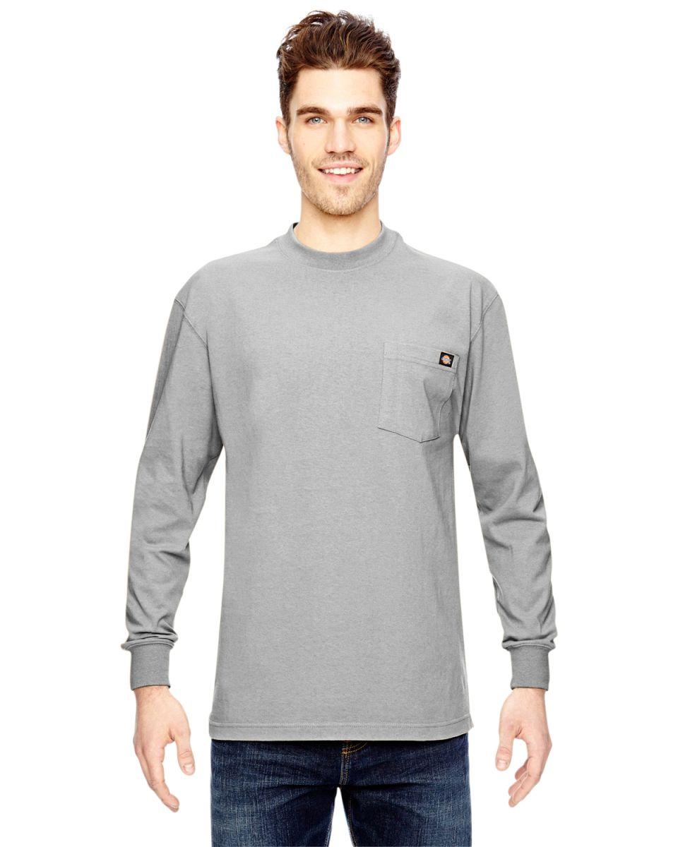 0d711aa5 WL450 Dickies 6.75 oz. Heavyweight Work Long-Sleeve T-Shirt ASH GREY