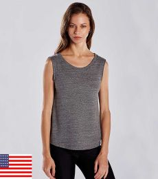 US Blanks US116 Women's Tri-Blend Muscle Tank