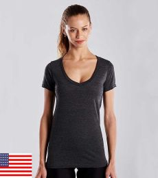 US Blanks US120 Ladies' 4.3 oz. Short-Sleeve V-Neck
