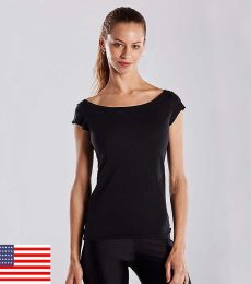 US180 US Blanks Ladies Cap Sleeve Jersey T-Shirt