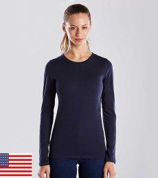 US Blanks US190 Women's Long Sleeve Tee