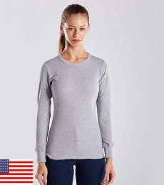 US Blanks US199 Women's Long Sleeve Thermal