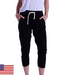 US Blanks 0204US Ladies' 2x1 Ribbed Capri Sweatpant