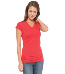 A17 In Your Face V-Neck Cap Sleeve Juniors Tee