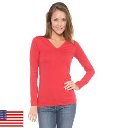 A19 In Your Face V-Neck Long Sleeve Juniors