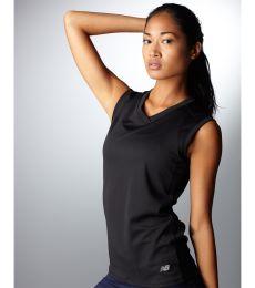 N7117L New Balance Ladies' NDurance Athletic Workout V-Neck T-Shirt