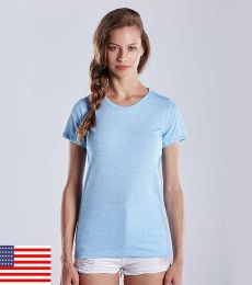 0222 US Blanks Ladies Triblend T-Shirt