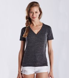 US Blanks US228 Ladies' 4.9 oz. Short-Sleeve Triblend V-Neck