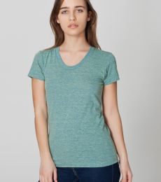 TR301 American Apparel Women's Tri-blend Short Sleeve Track Tee