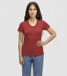 Los Angeles Apparel TR3001 Women's Tri-Blend Track Tee