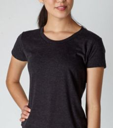 253 Tultex Ladies' Tri-Blend Tee with a Tear-Away Label