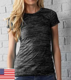 In Your Face 0273IN In Your Face H04 / Misses Crew Neck Burnout Tee