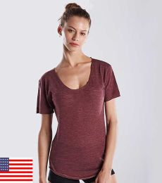 US Blanks US333 Womens Slub Burnout Tee
