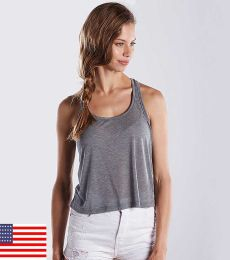 US510 US Blanks Sheer Crop Top Cropped Tank