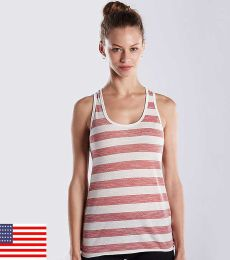525 US Blanks Ladies Slub Racer Tank