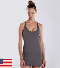 575 US Blanks Ladies Raw Edge Sheer Jersey Racer Tank