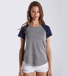US Blanks US618 Ladies' 4.9 oz. Shirttail Raglan