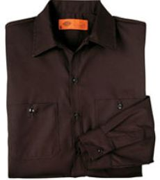 Dickies Long Sleeve Permanent Press Poplin Work Shirt