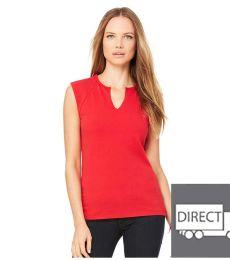 BELLA 820 Womens Cotton/Spandex Cap Sleeve T-shirt