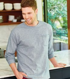 52 5596 Tagless Long Sleeve T-Shirt with a Pocket