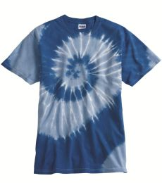Dyenomite 20021 Tone-on-Tone Spiral T-Shirt