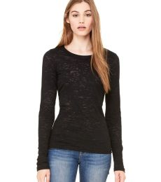 BELLA 8650 Womens Long Sleeve Burnout T-shirt