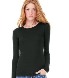 BELLA 8751 Sheer Ribbed Long Sleeve T-shirt