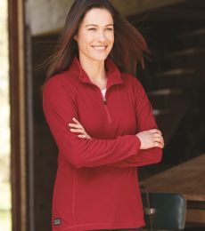 9397 DRI DUCK - Fusion Ladies' Quarter-Zip Nano-Fleece Pullover