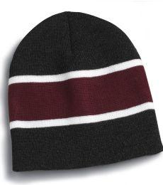 SP06 Sportsman  - Striped Knit Beanie -