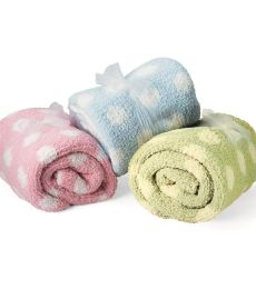 Colorado Clothing 2134 Chunky Chenille Polka Dot Baby Blanket