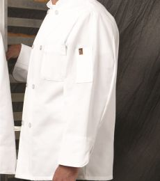 Chef Designs 0413 Button Chef Coat with Thermometer Pocket
