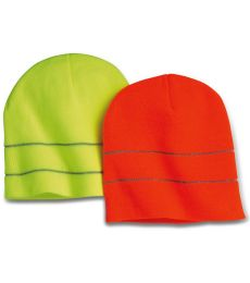 301 3715 USA Made Safety Knit Beanie with 3M Reflective Thread